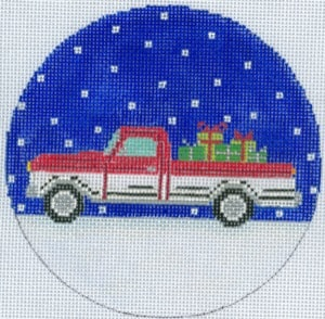 click here to view larger image of Chevy Christmas Ornament (hand painted canvases)