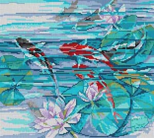 click here to view larger image of Koi Fish (hand painted canvases)