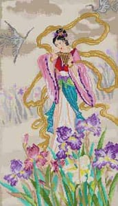click here to view larger image of Lady With Iris (hand painted canvases)