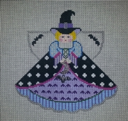 click here to view larger image of Gone Batty Witch Angel (hand painted canvases)