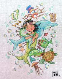click here to view larger image of Keep Swimming Mermaid (hand painted canvases)