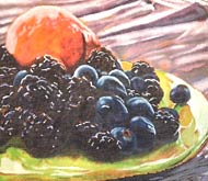 click here to view larger image of Blackberries & Peach (hand painted canvases)