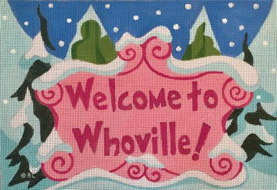 click here to view larger image of Welcome to Whoville (hand painted canvases)