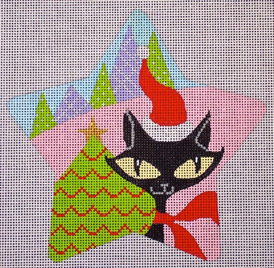 click here to view larger image of Kitty Star (hand painted canvases)