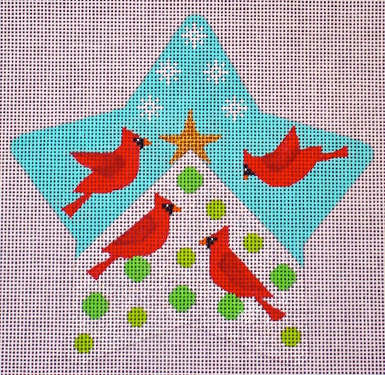 click here to view larger image of Cardinal Star (hand painted canvases)