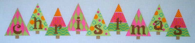 click here to view larger image of Christmas Banner (hand painted canvases)