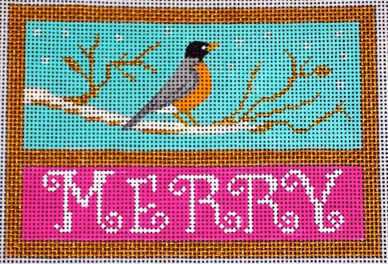 click here to view larger image of Merry Robin (hand painted canvases)