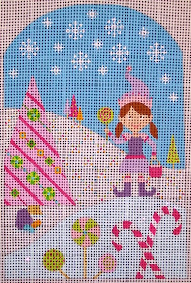 click here to view larger image of Kringle Belle Gathering Candy (hand painted canvases)