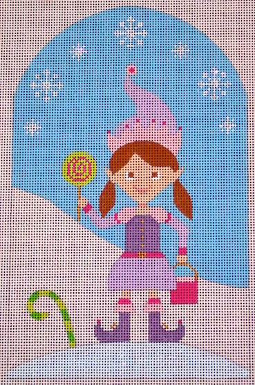 click here to view larger image of Kringle Belle Mini Candy Elf (hand painted canvases)