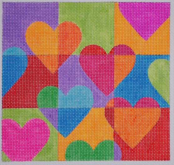 click here to view larger image of Floating Hearts (hand painted canvases)