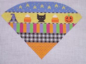 click here to view larger image of Halloween Sampler Cone (hand painted canvases)