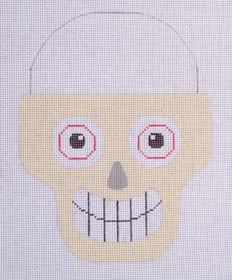 click here to view larger image of Candy Pail Skull (hand painted canvases)