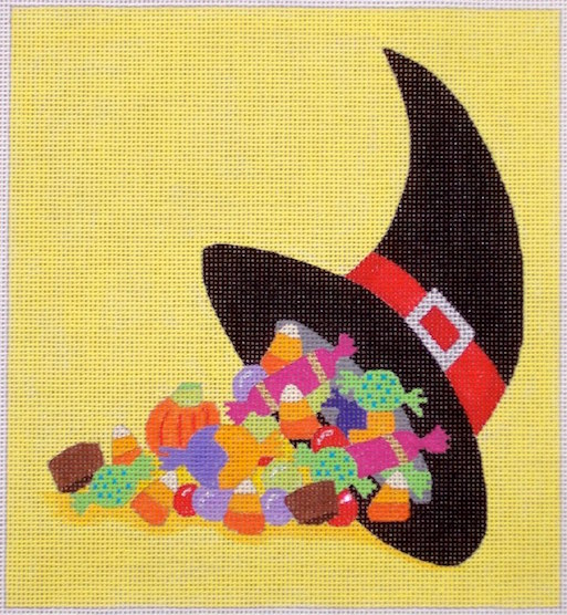 click here to view larger image of Candy Cornucopia (hand painted canvases)