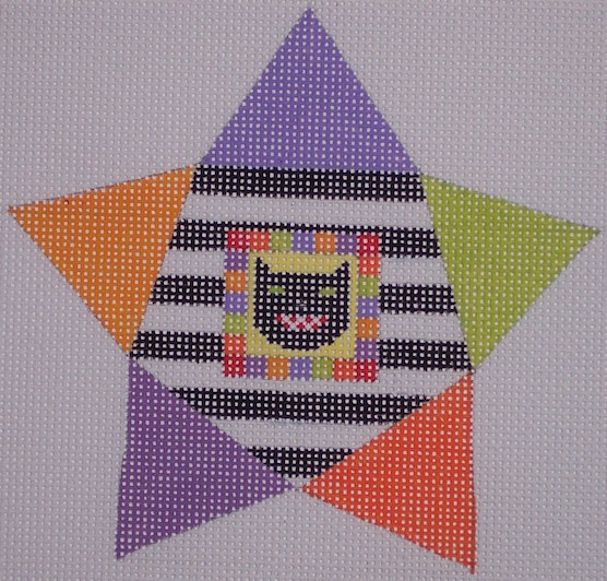 click here to view larger image of Star Shape Cat (hand painted canvases)