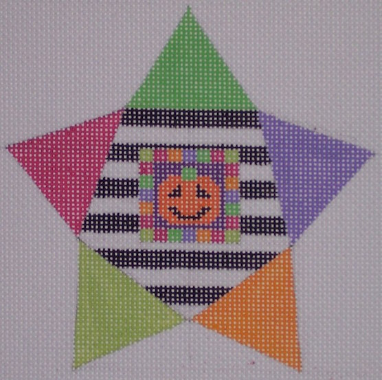 click here to view larger image of Star Shape Pumpkin (hand painted canvases)