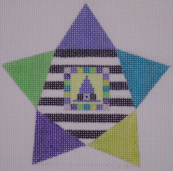 click here to view larger image of Star Shape Witch Hat (hand painted canvases)