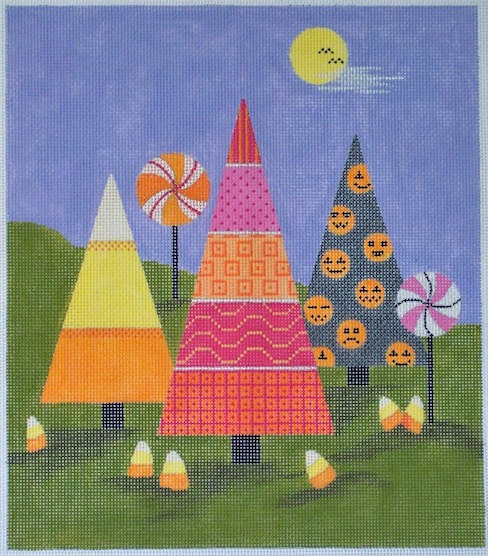 click here to view larger image of Halloweenville Forest (hand painted canvases)