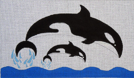 click here to view larger image of Whales (hand painted canvases)
