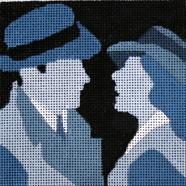 click here to view larger image of Casablanca - Movie Coaster (hand painted canvases)