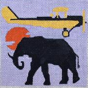 click here to view larger image of Out of Africa - Movie Coaster (hand painted canvases)