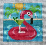 click here to view larger image of Florida - Travel Coasters (hand painted canvases)