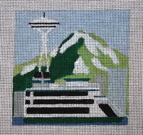 click here to view larger image of Seattle - Travel Coasters (hand painted canvases)