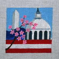 click here to view larger image of Washington DC - Travel Coasters (hand painted canvases)