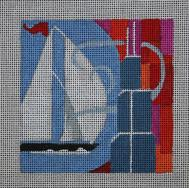 click here to view larger image of Chicago - Travel Coasters (hand painted canvases)