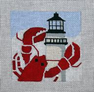 click here to view larger image of New England - Travel Coasters (hand painted canvases)