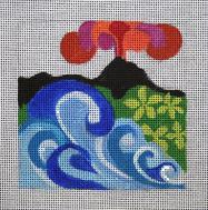 click here to view larger image of Hawaii - Travel Coasters (hand painted canvases)
