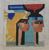 click here to view larger image of Egypt - Travel Coasters (hand painted canvases)