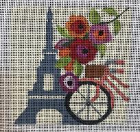 click here to view larger image of Paris - Travel Coasters (hand painted canvases)