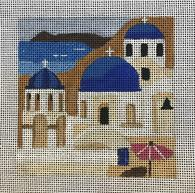 click here to view larger image of Greece - Travel Coasters (hand painted canvases)