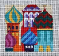 click here to view larger image of Russia - Travel Coasters (hand painted canvases)
