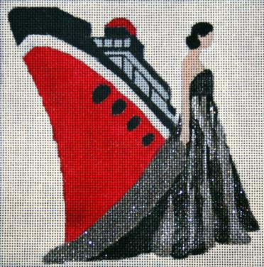 click here to view larger image of Ship - Windows of Milan (hand painted canvases)