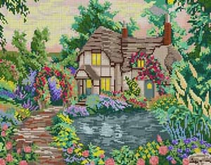 click here to view larger image of Cottage (hand painted canvases)