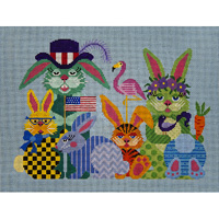 click here to view larger image of Every Bunny Need Some Bunny - 18ct (hand painted canvases)