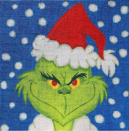 click here to view larger image of Grinch Portrait - 18ct (hand painted canvases)