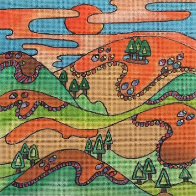 click here to view larger image of California Hills - 18ct (hand painted canvases)