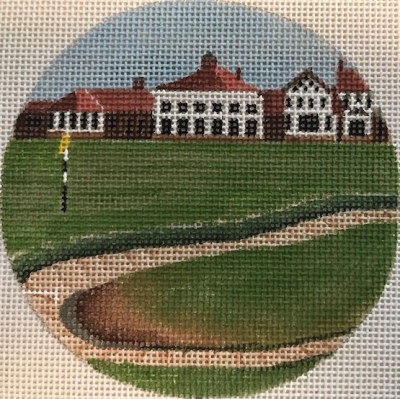 click here to view larger image of Muirfield Ohio Ornament (hand painted canvases)