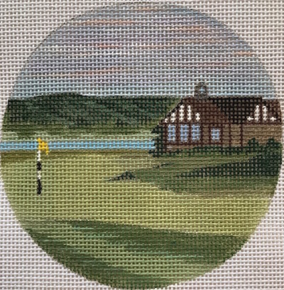click here to view larger image of Royal Dornoch - Scotland Ornament (hand painted canvases)