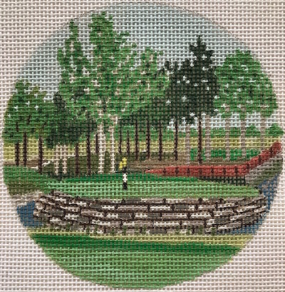 click here to view larger image of Valhalla Kentucky Ornament (hand painted canvases)