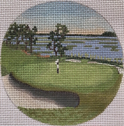 click here to view larger image of Chechessee Creek South Carolina Ornament (hand painted canvases)