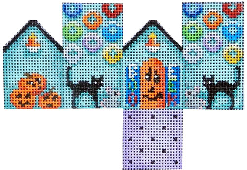 Halloween/Cats Mini Cottage hand painted canvases