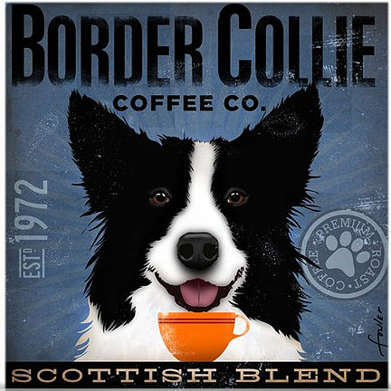 click here to view larger image of Border Collie (Scottish Blend) (hand painted canvases)