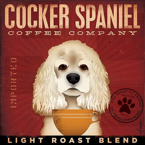 click here to view larger image of Cocker Spaniel (Light Roast) (hand painted canvases)