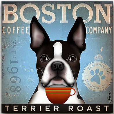 click here to view larger image of Boston Terrier (Terrier Roast) (hand painted canvases)