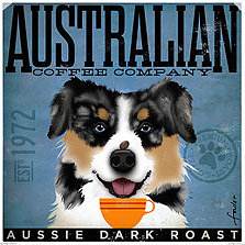 click here to view larger image of Australian Shepherd (Aussie Dark Roast) (hand painted canvases)