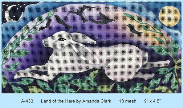 click here to view larger image of Land of the Hare (hand painted canvases)