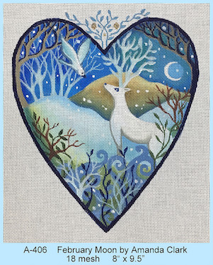click here to view larger image of February Moon Heart (hand painted canvases)